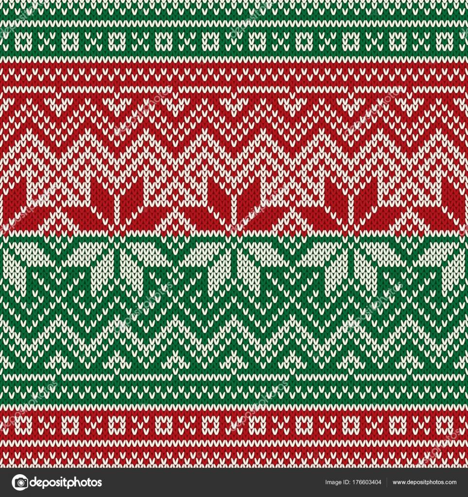 Reticolo lavorato a maglia senza giunte di festa di Natale
