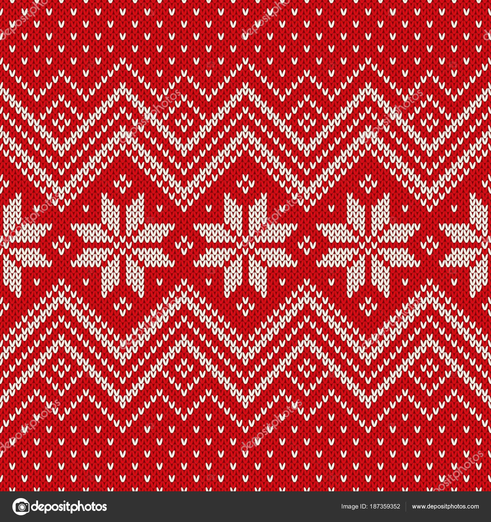 Traditionelle Fair Isle Stil Muster stricken. Winterurlaub nahtlos ...