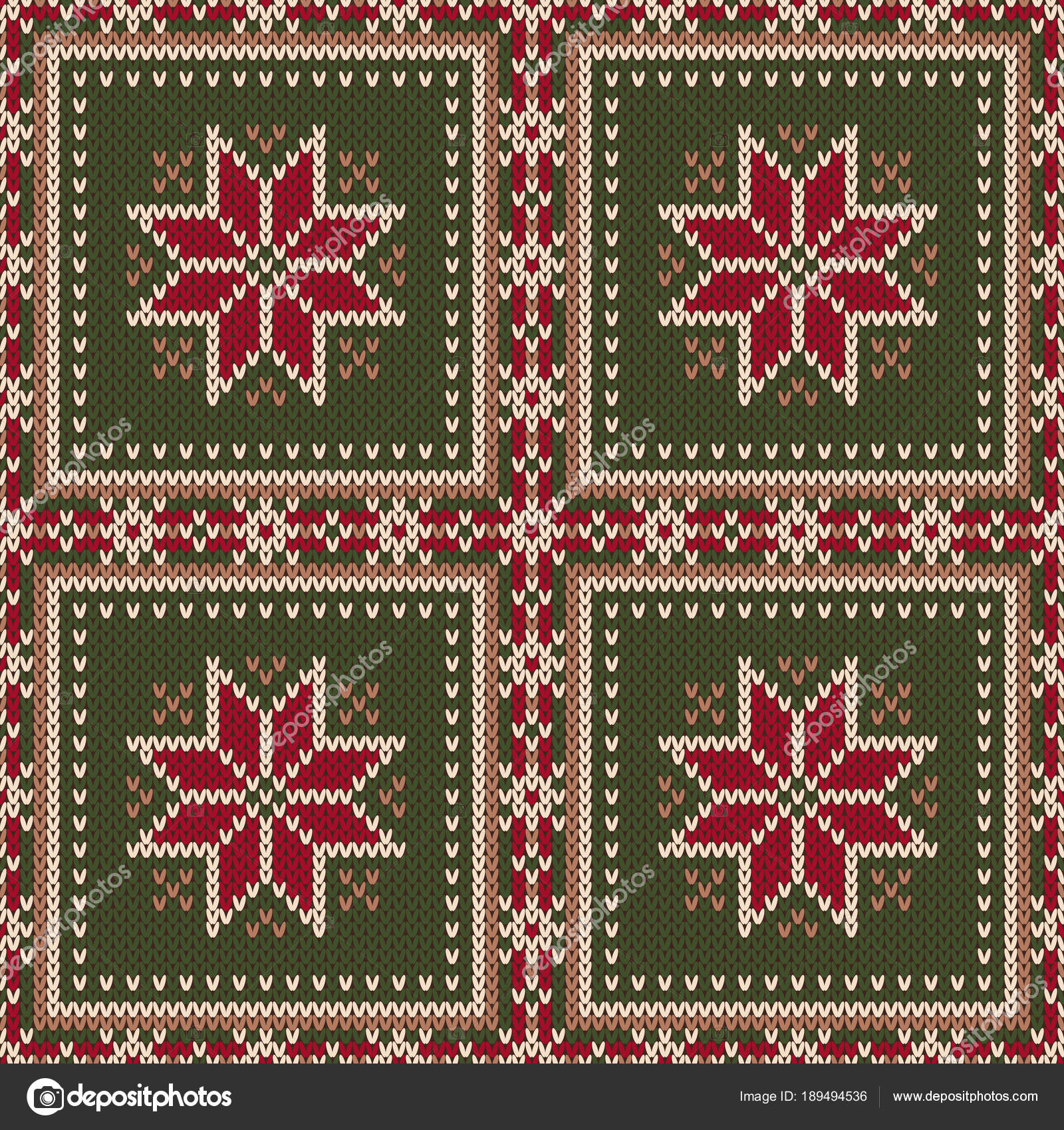 430eb385fed9d Winter Holiday Seamless Knitted Pattern with a Snowflakes. Knitting Sweater  Design. Wool Knitted Texture