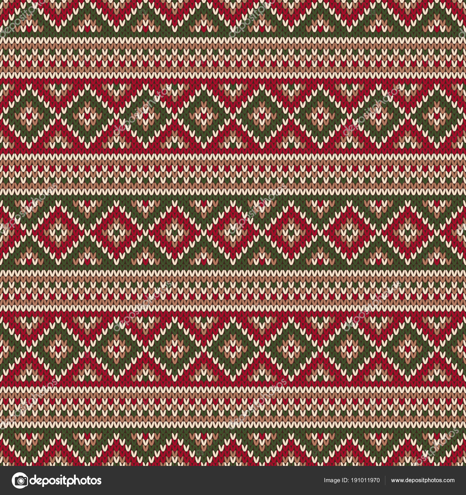 Traditional Fair Isle Style Knitted Pattern. Christmas and New Year ...