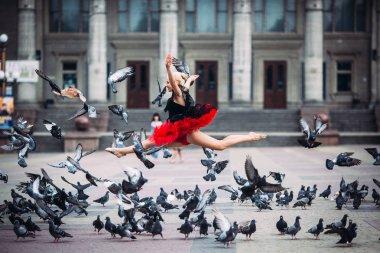 Ballerina doing splits in the air