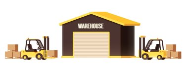 warehouse logistics forklifts