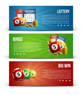 lottery banners set