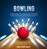 Fotografie bowlingové realistické bannery