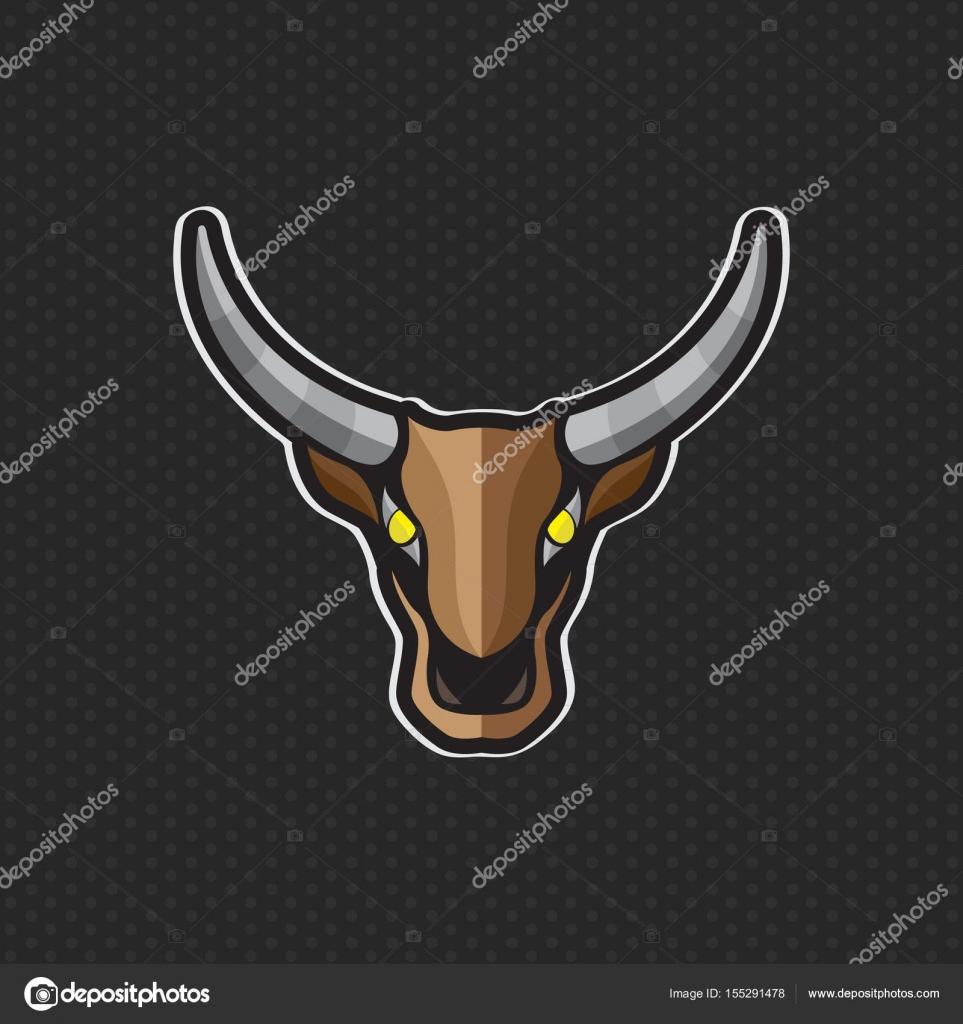 cow logo design template cow head icon vector illustration stock