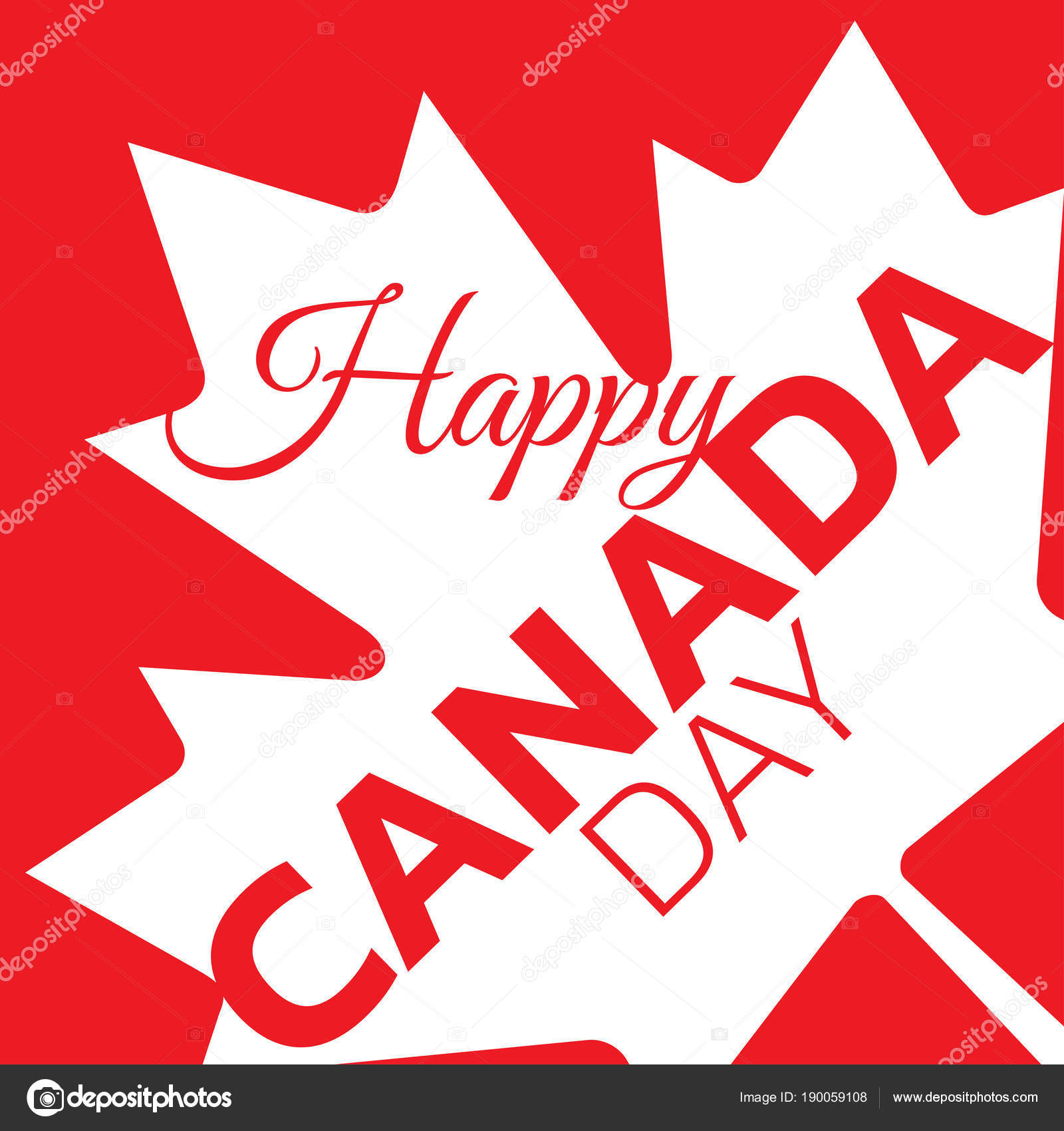 canada day poster canadian flag vector illustration