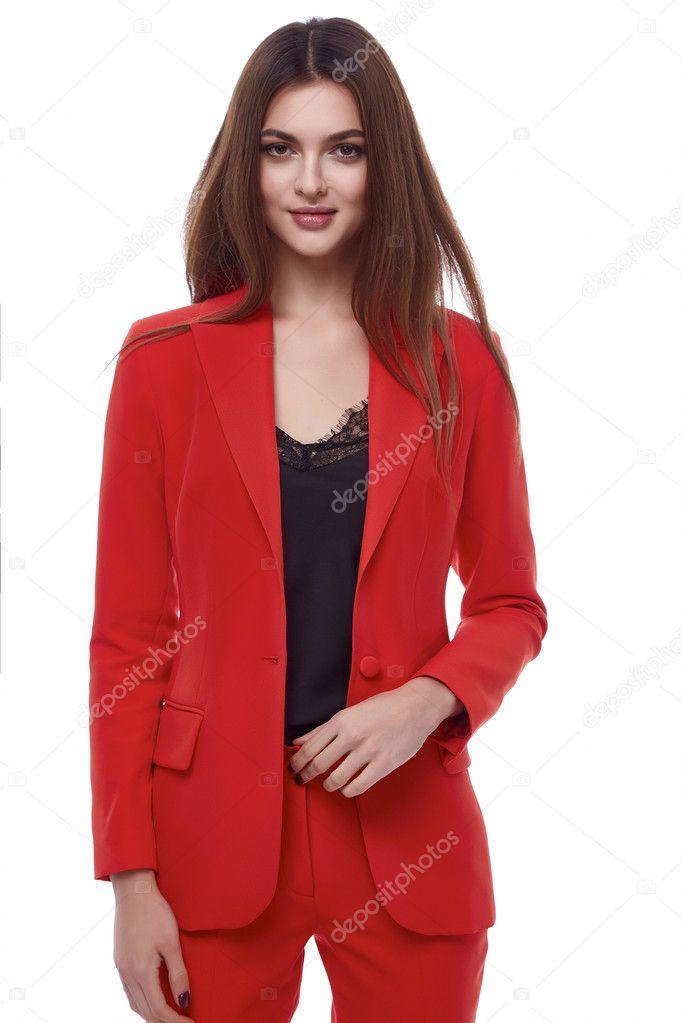 Modelo Casual Color Blusa Ropa Para Traje Blanco Mujer Otoño Colección Primavera Fecha Hermosa Glamour Vestir Estilo Dama Fondo Fashion Estudio De Rojo 8wON0nyvmP
