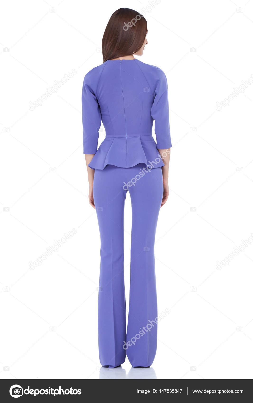 Ropa de moda estilo mujer cuerpo perfecto forma morena pelo — Foto ...