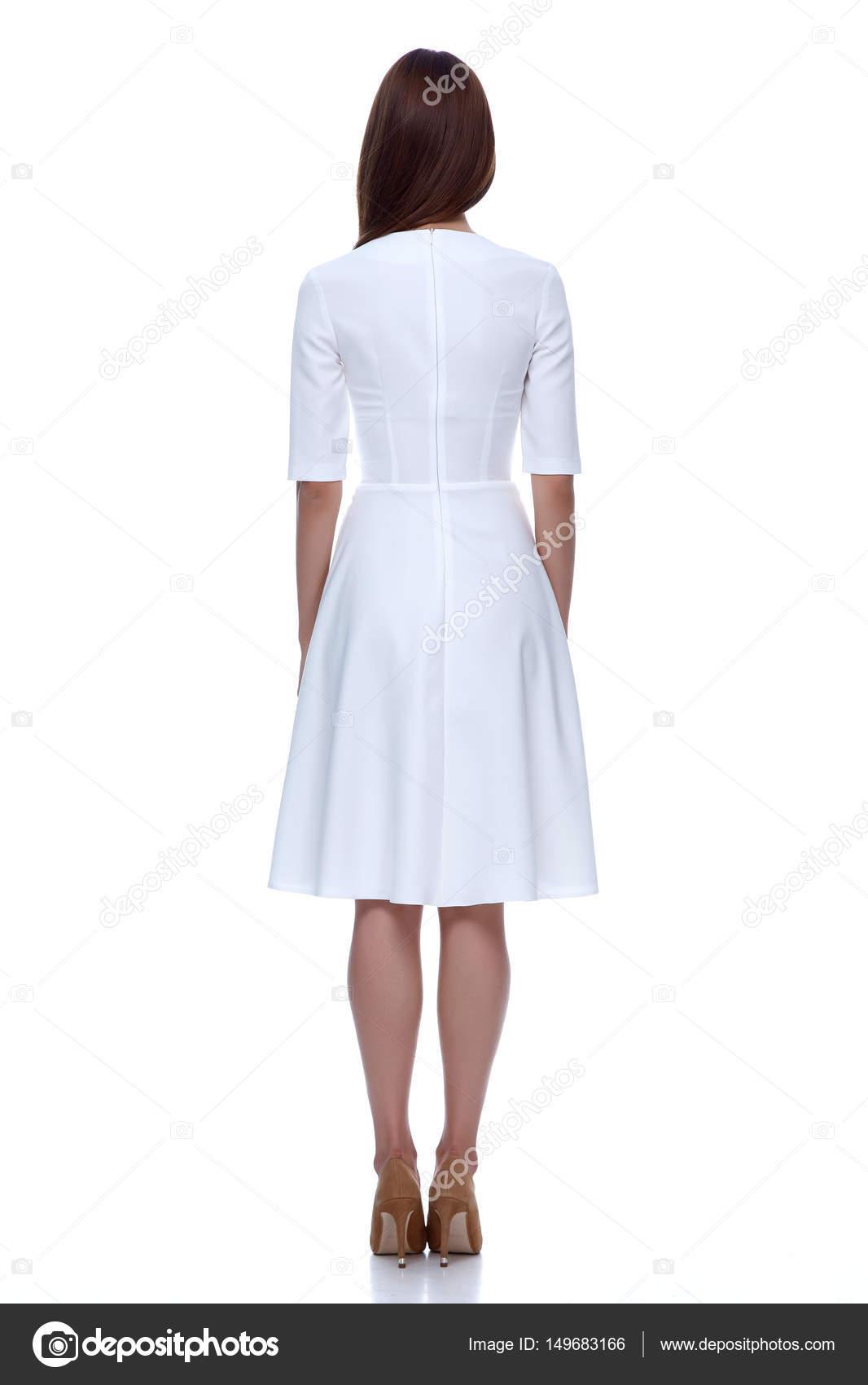 1d392391d077 Donna in abito corto bianco moda Catalogo Abbigliamento bellezza carina–  immagine stock