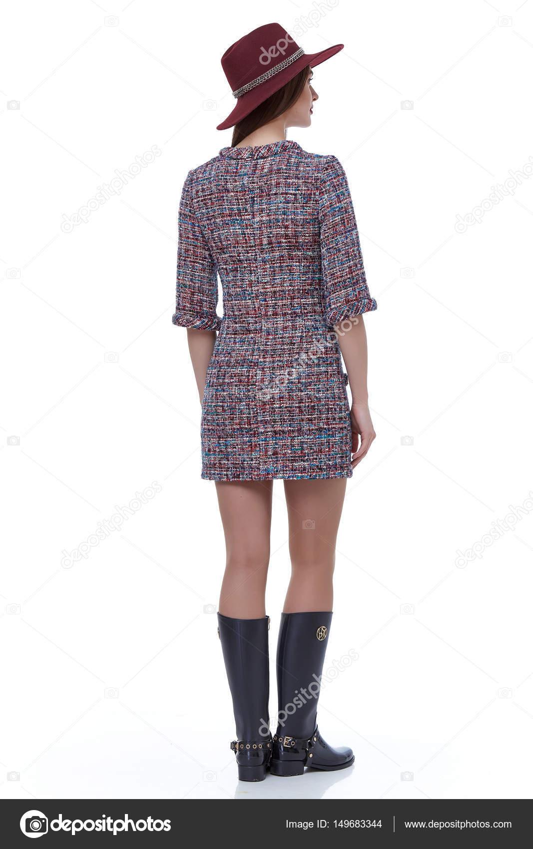 Design Kinderkleding.Schoonheid Vrouw Model Slijtage Stijlvol Design Trend Kinderkleding