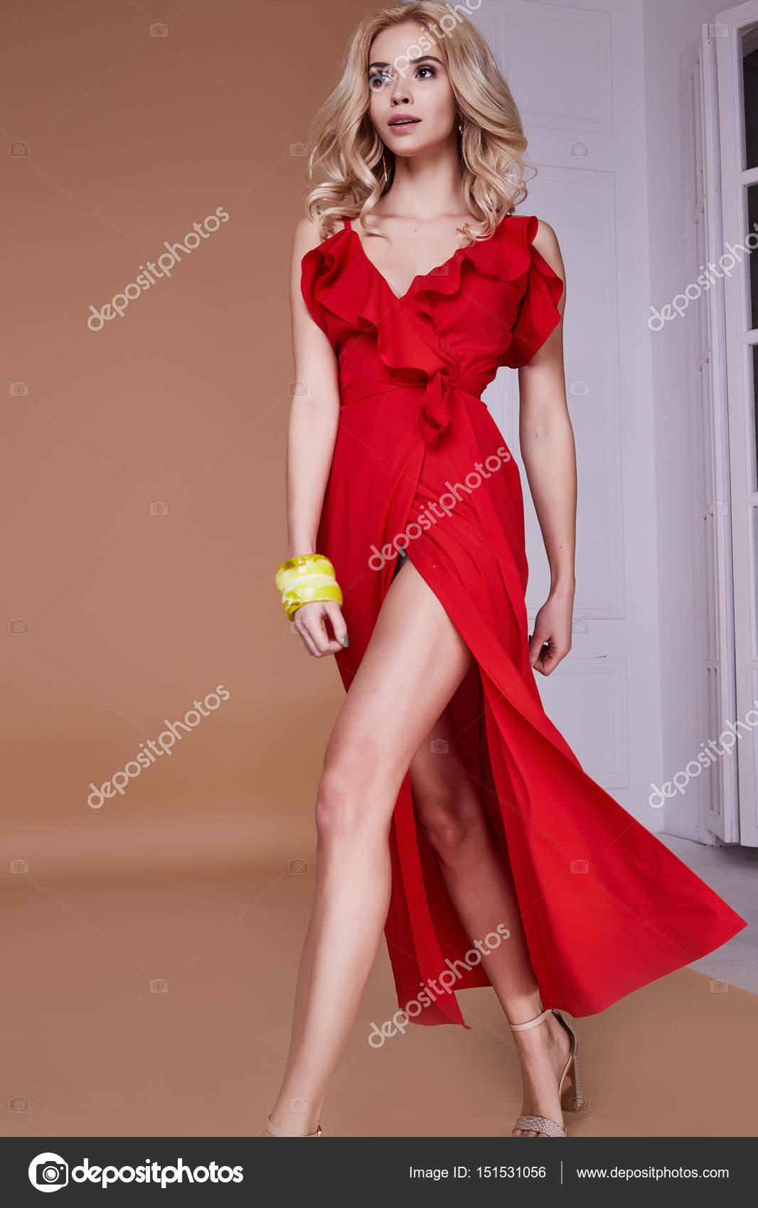 Zapatos para vestido rojo largo de noche
