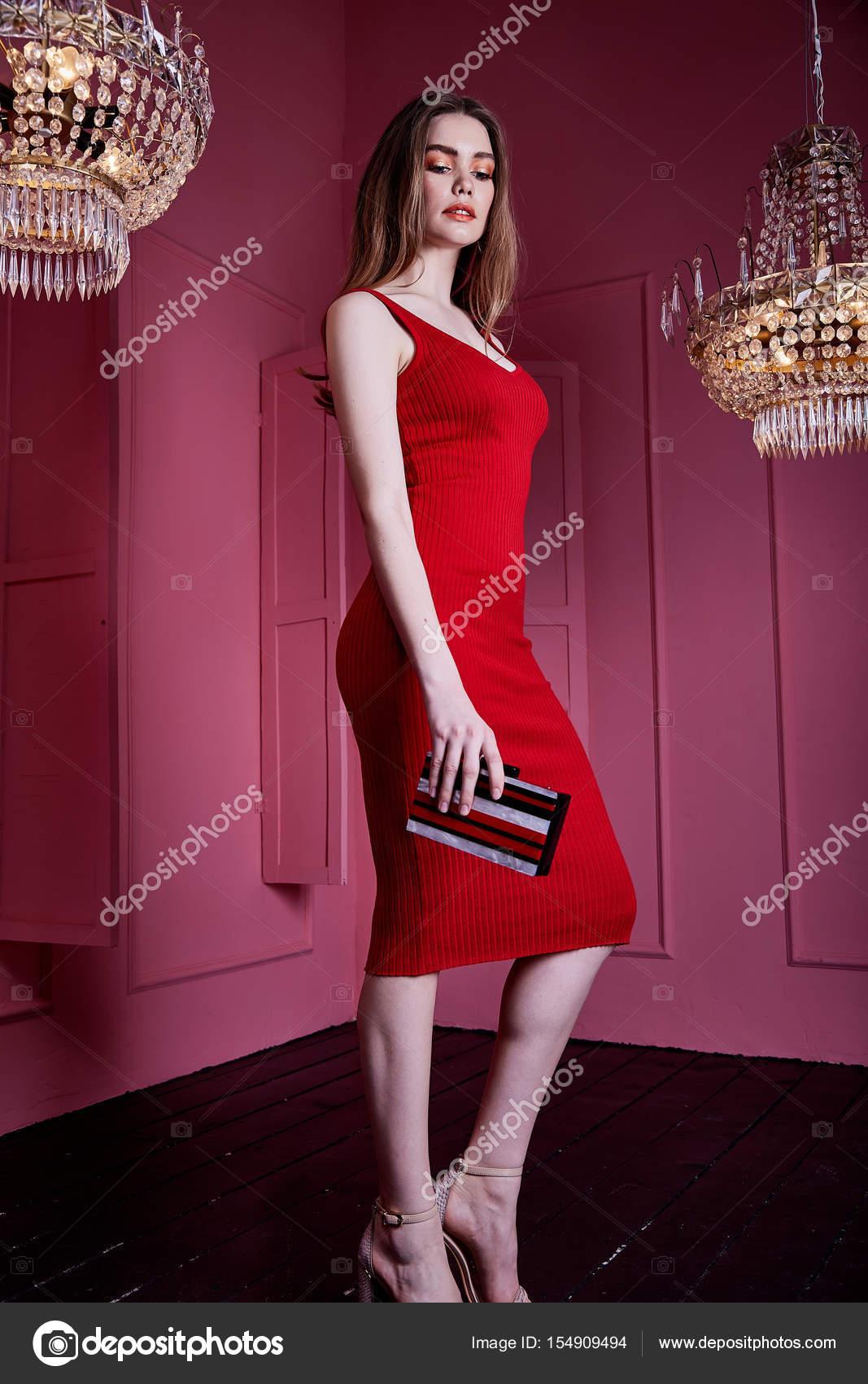 Sexy Schönheit Frau tragen dünne Res Kleid Stil Kleidung für party ...