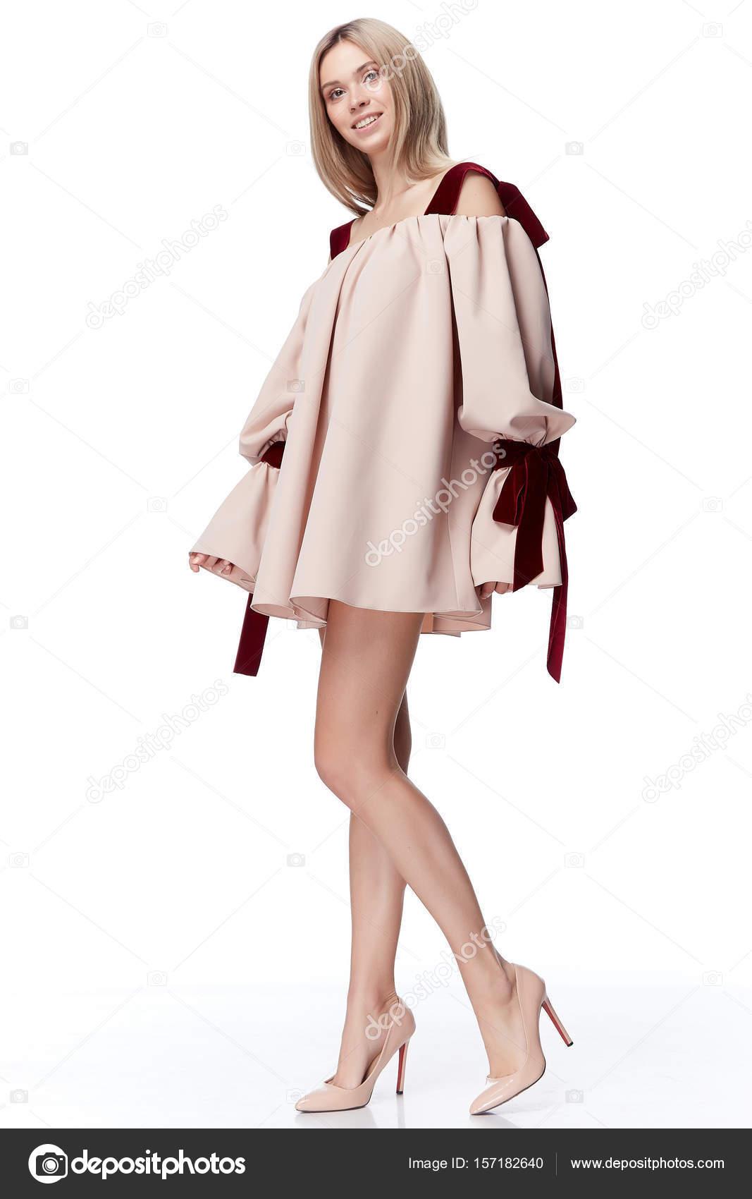 Sexy hübsche Modell blondes Haar Frau Verschleiß Modestil für party ...