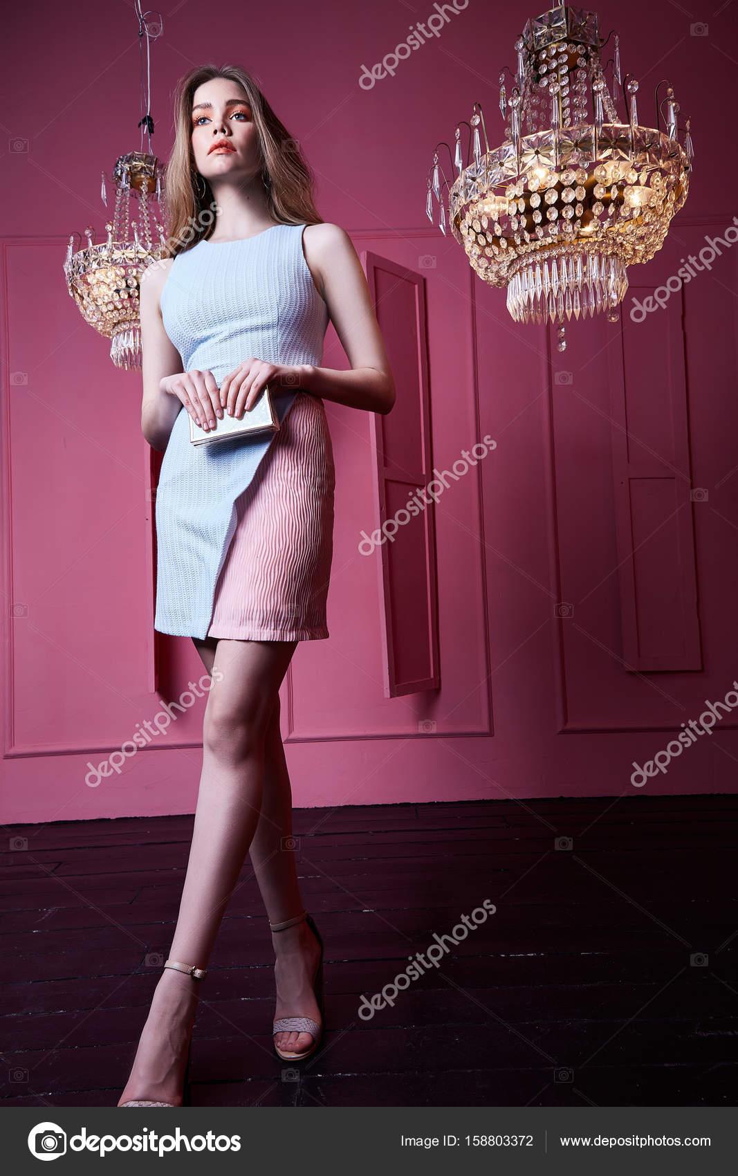 Cara bonita sexy hermosa mujer rubia señora moda modelo desgaste s ...