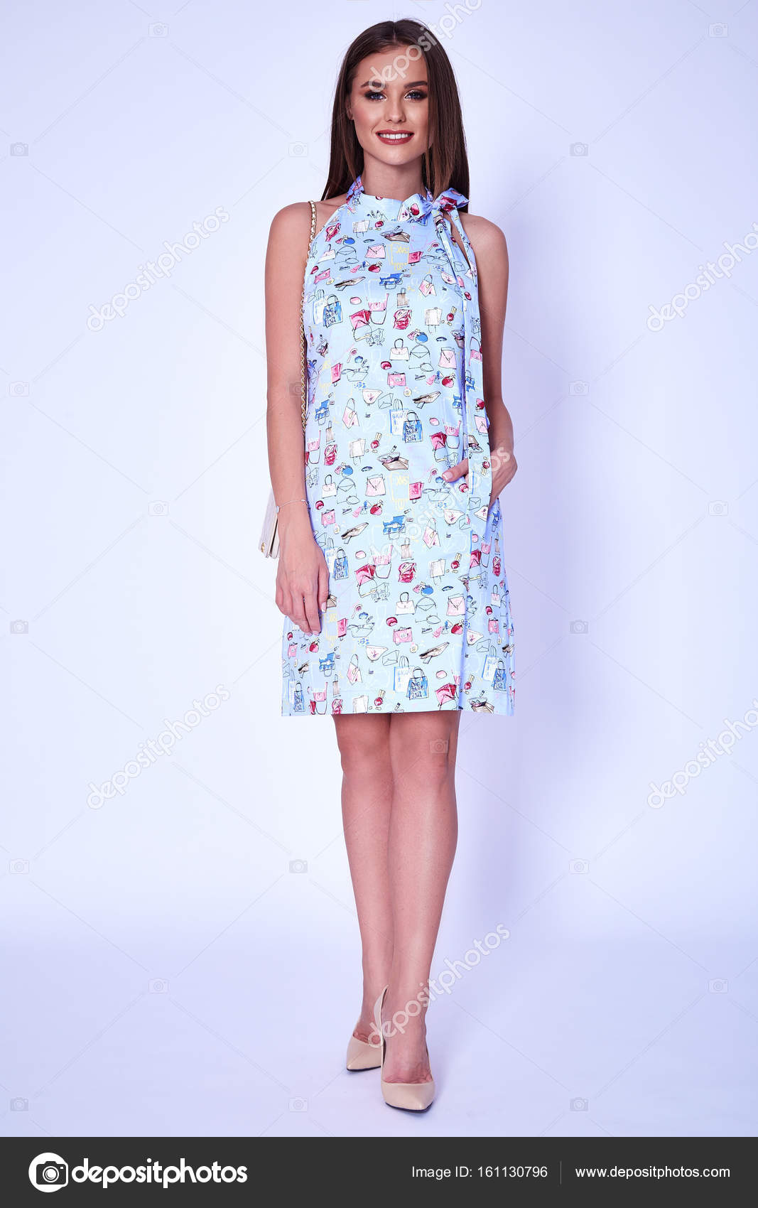 d9a171160f622 Belleza mujer modelo use diseño elegante tendencia ropa Vestido estilo  casual oficina formal para trabajo