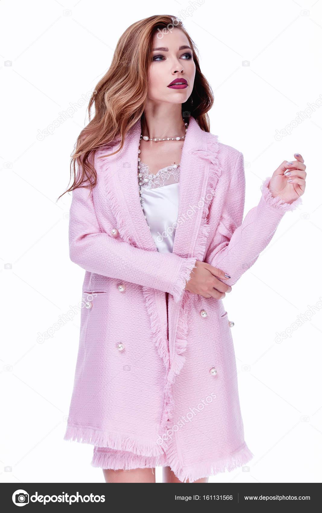 Modelo de mujer de belleza vestir elegante diseño tendencia ropa de ...