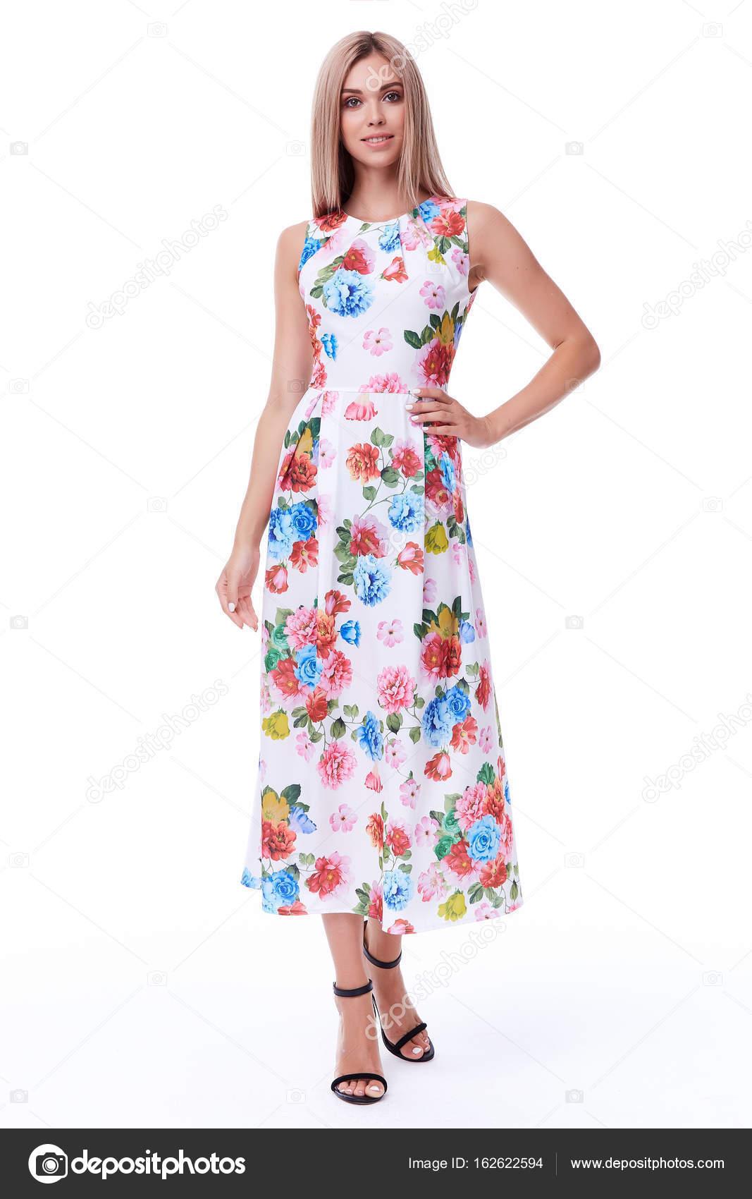 Mode sexy Glamour model schöne Frau hübsches Gesicht langen Blon ...