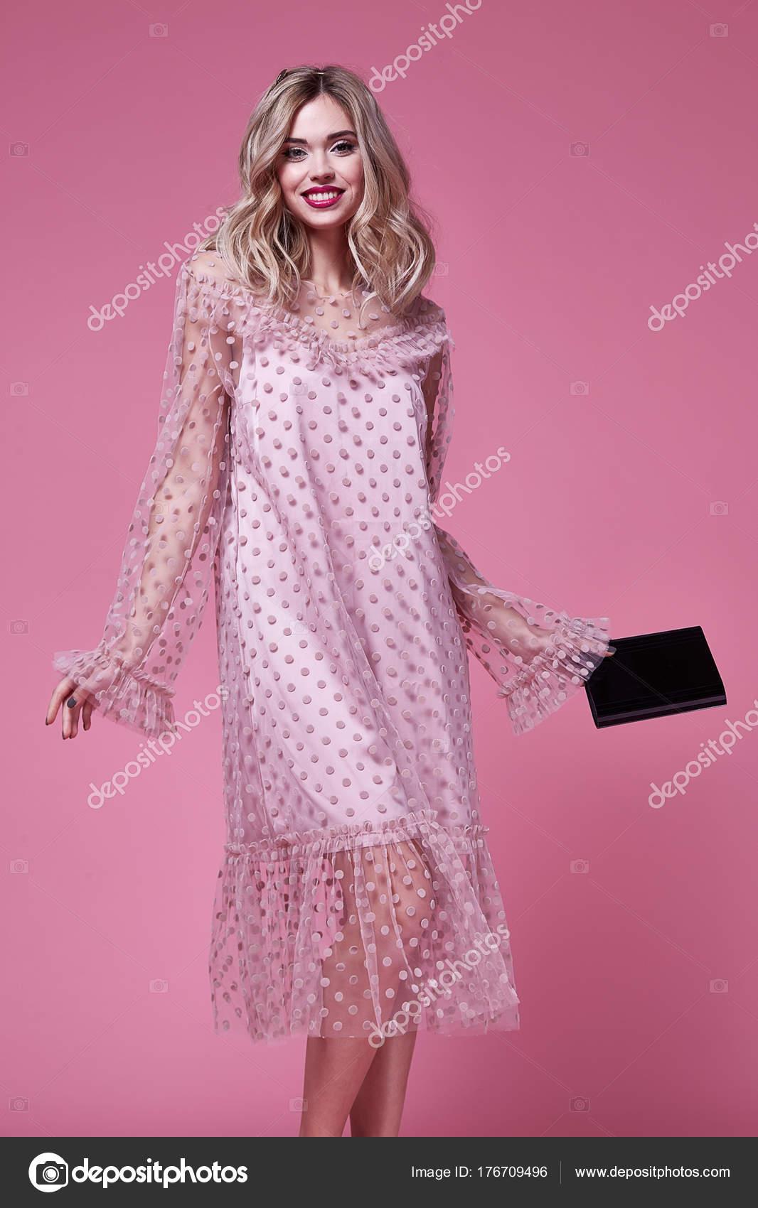 Lady Cloth Design | Sexy Woman Beautiful Lady Wear Fashion Designer Silk Pink Dress
