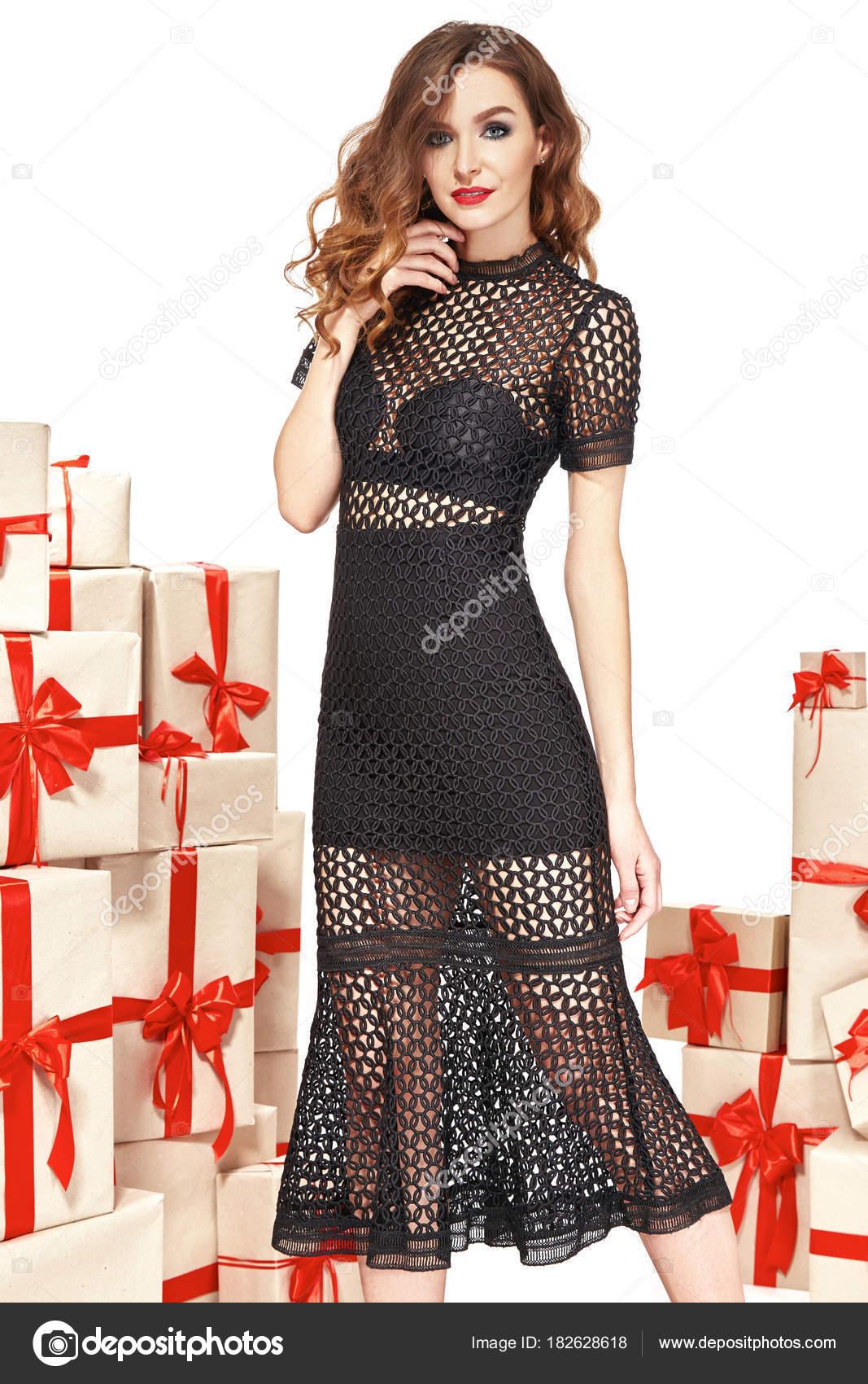 schöne sexy Frau Kleidung box Geschenk Mode-Stil — Stockfoto ...