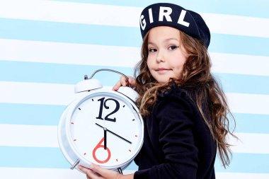 School small baby girl dress for schoolgirl pupil uniform beret