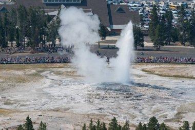 Old Faithful Erupts in Yellowstone