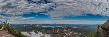 Clouds Over Crater Lake Panorama