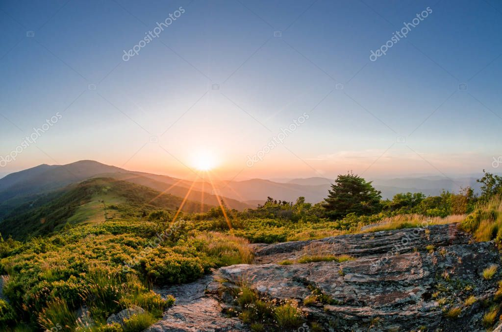 Sunrise from Jane Bald