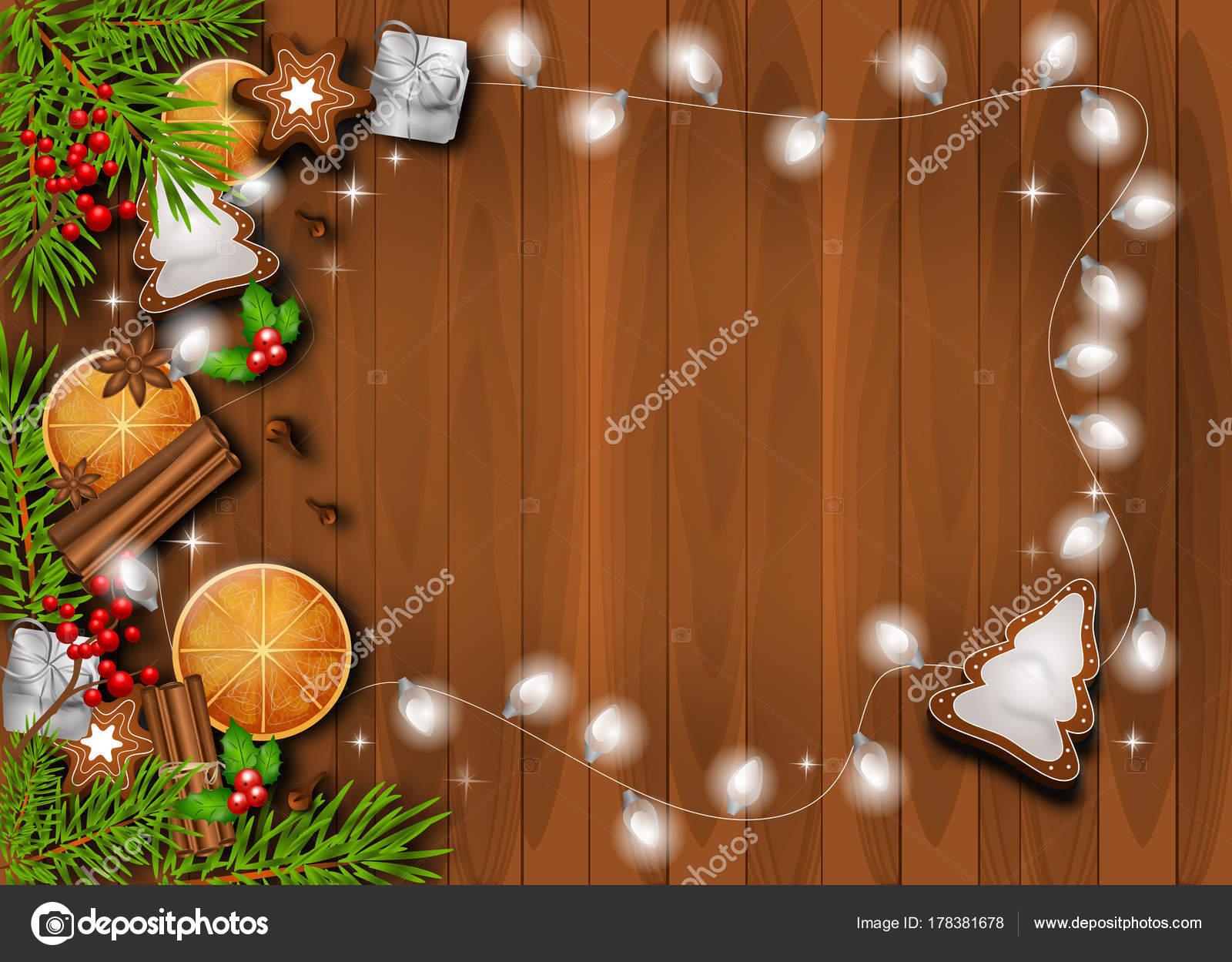 Fondo de navidad hermoso decorado con objetos for Objetos de navidad