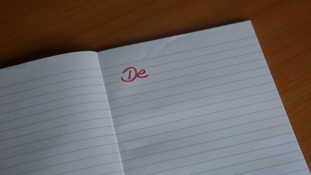 dopisy Milý deníčku objevují psané na Poznámkový blok