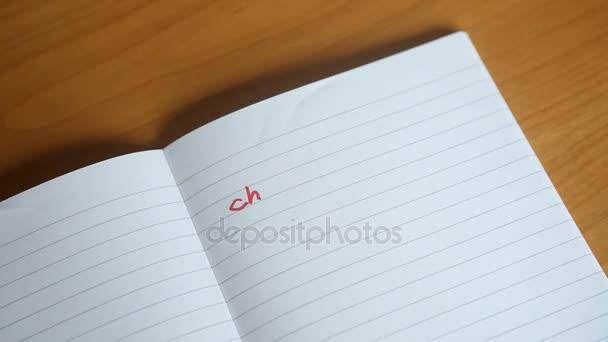 a francia kézzel írott levelek Cher napló (Kedves Naplóm) jelenik meg a Jegyzettömb