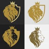 Lví hlavy s logem koruny
