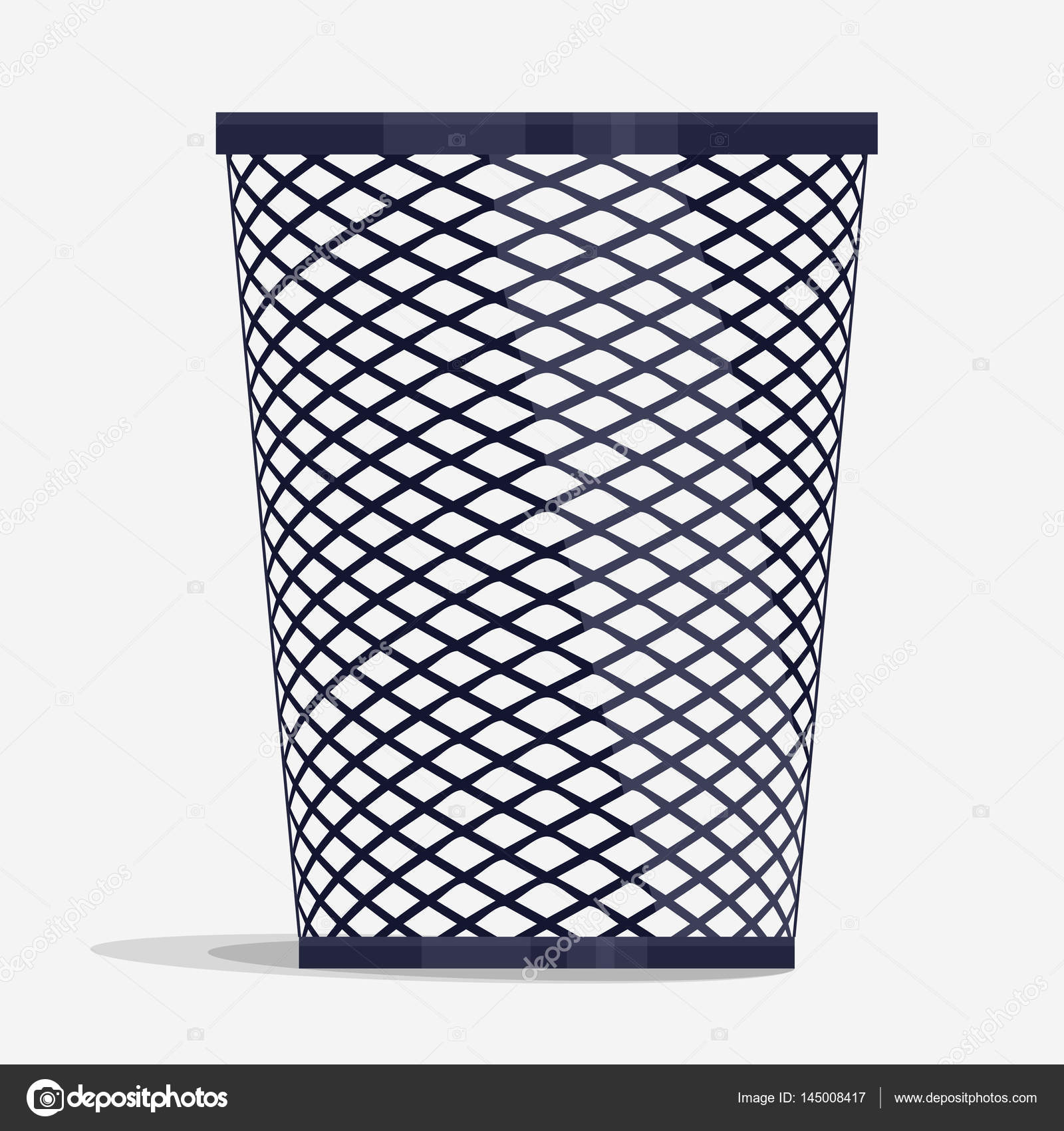 wire holder basket, office organizer box — Stock Vector ...