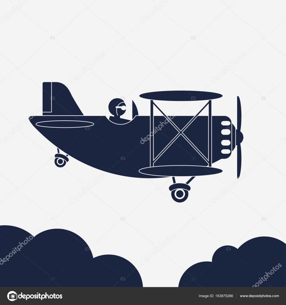 エアレイン イラスト飛行機のアイコン空の航空機ベクトル