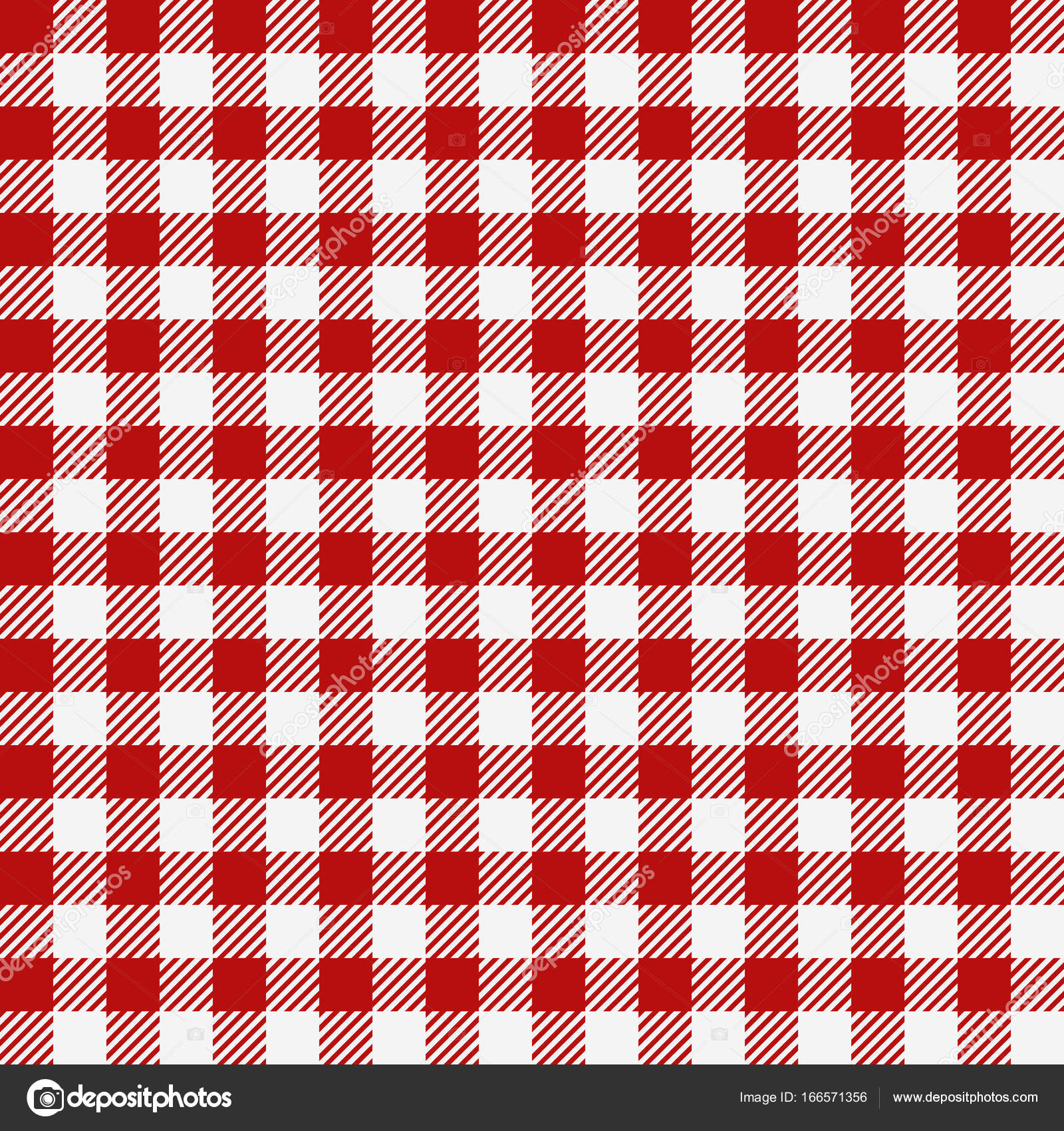 Red Checkered Texture, Restaurant Seamless Pattern, Kitchen Tablecloth  Background, Plaid Wallpaper U2014 Stock