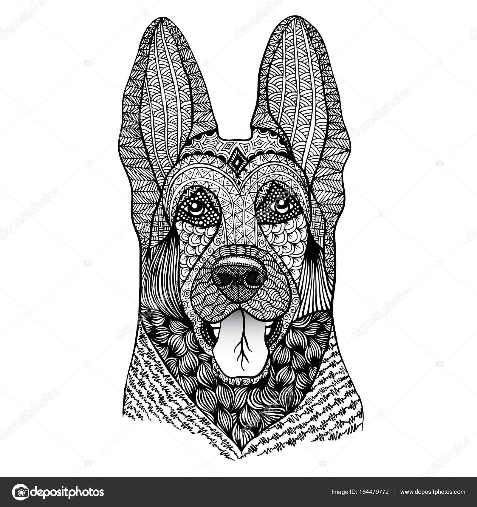 Ilustración de vector de pastor. Puede utilizarse como un logotipo ...