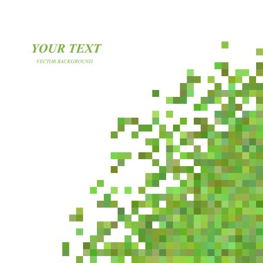 Green pixel square pattern background design