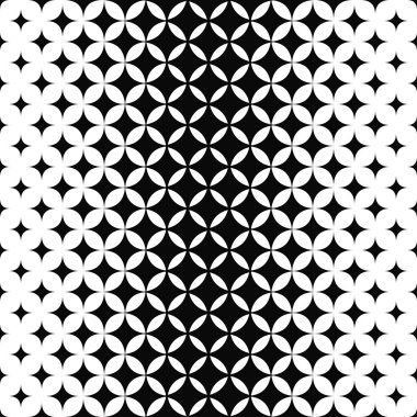 Black and white curved star pattern