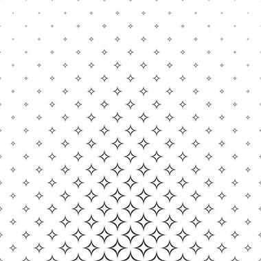Black white curved star pattern background