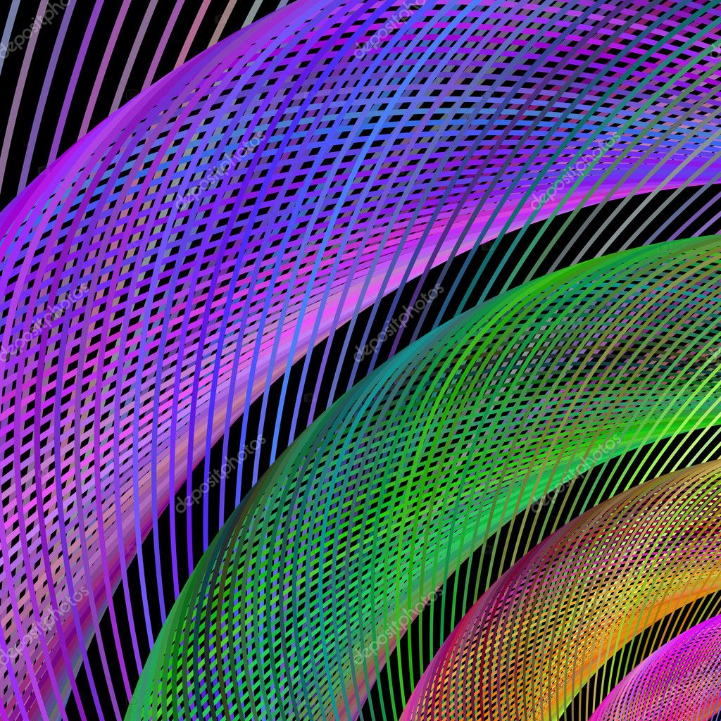 Multicolored abstract vector fractal background