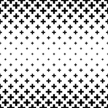 Black and white greek cross pattern