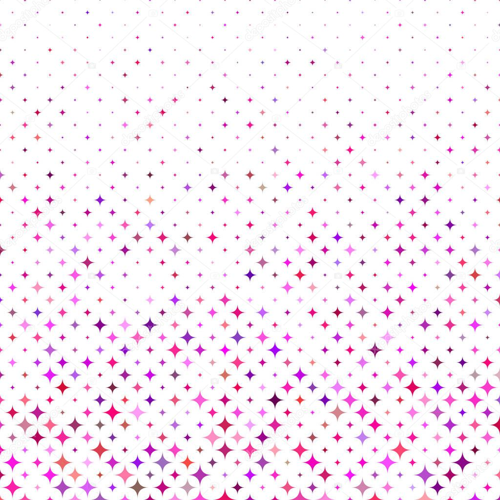 Multicolored abstract curved star pattern design