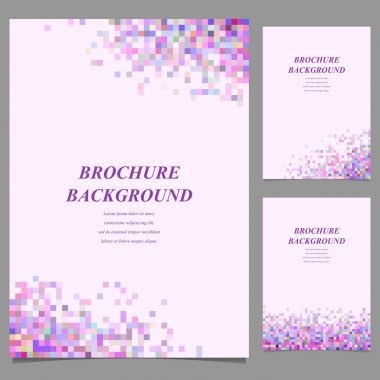 Modern brochure template design from square tiles