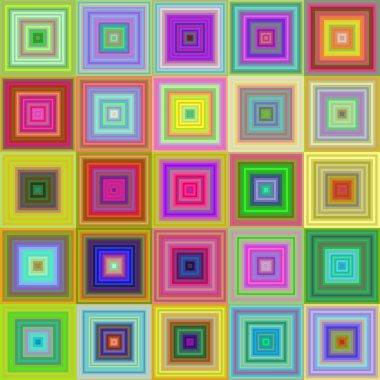 Colorful square tile mosaic background design