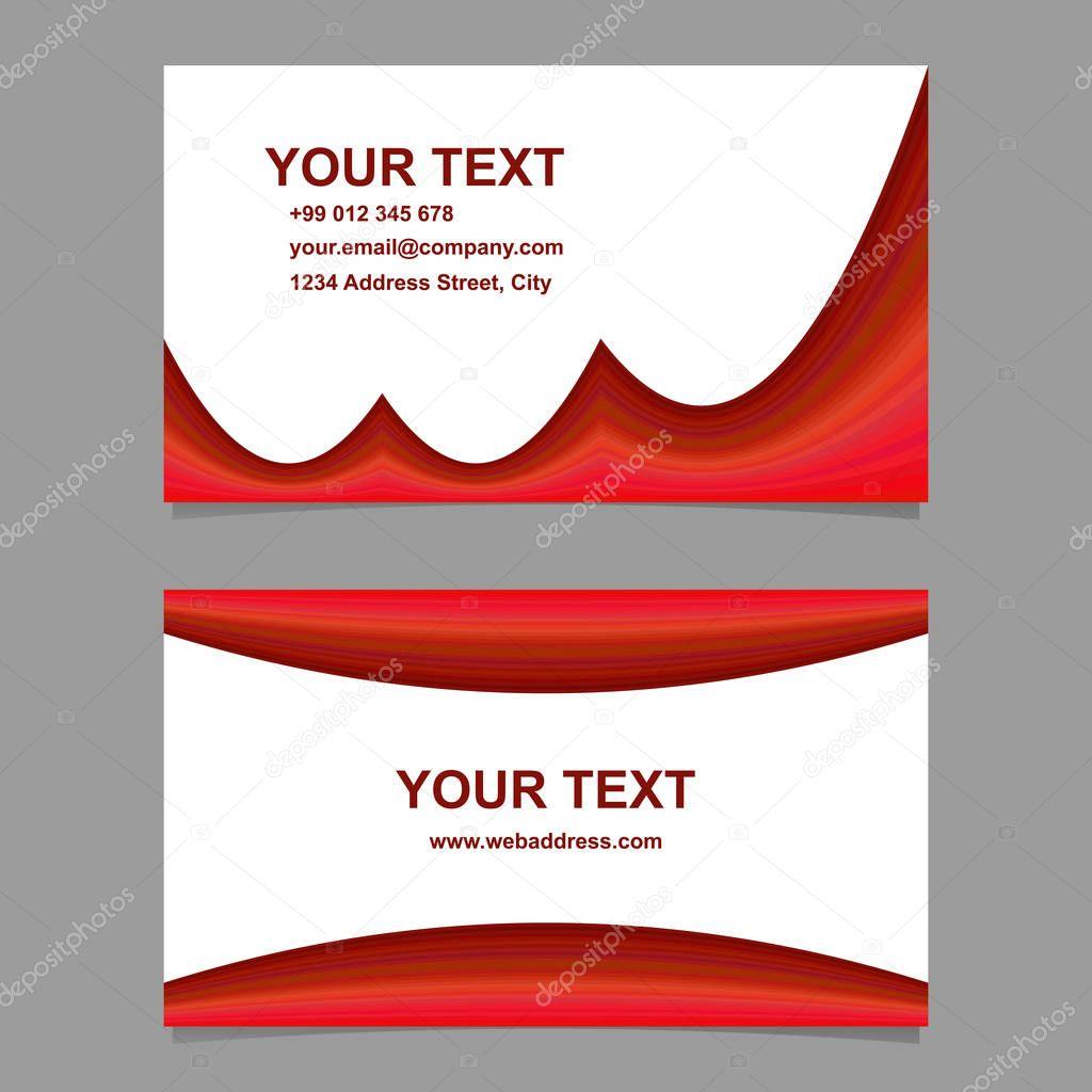 Ensemble De Modeles Forme Incurvee Abstrait Rouge Carte Visite Design Vecteur Par