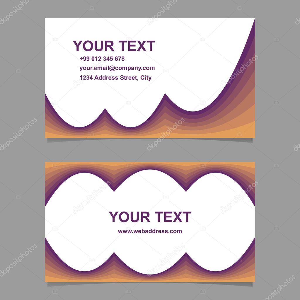 Abstract shapes business cards vector 6th grade algebra word abstract curved shape business card template set stock vector depositphotos 129587820 stock illustration abstract curved magicingreecefo Choice Image