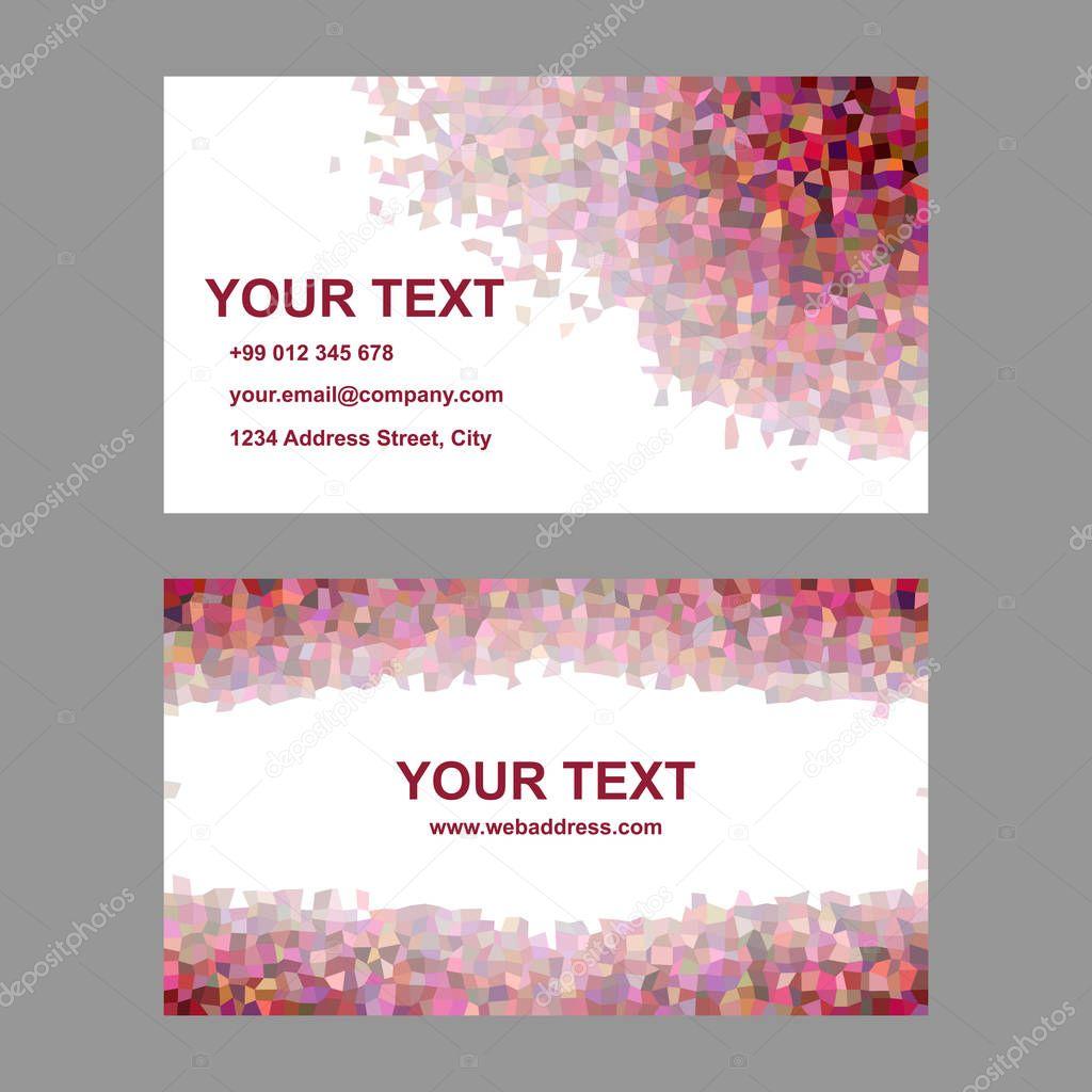 Conception De Modele Carte Visite Rectangle Abstrait Multicolor Mosaique Vecteur Par