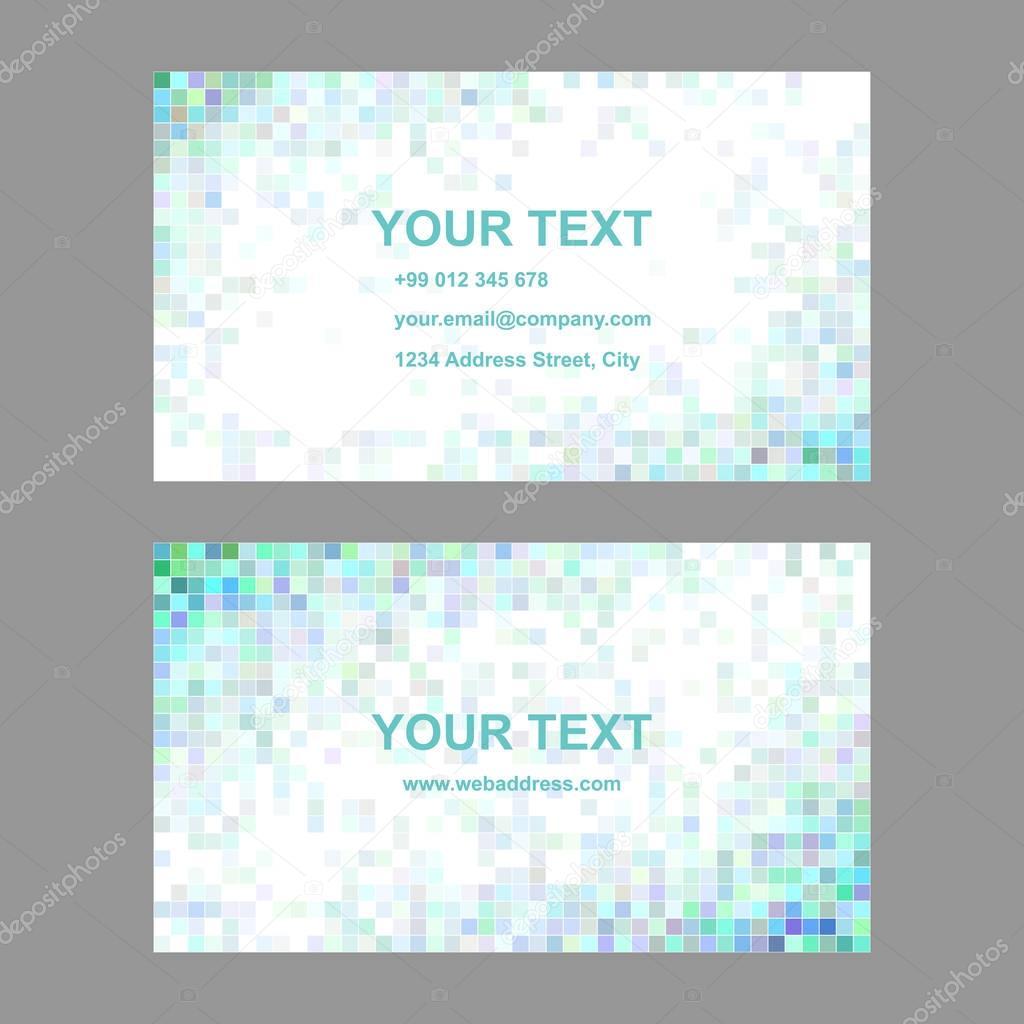 Quadratischen Fliesen Mosaik Visitenkarten Vorlagen Stockvektor