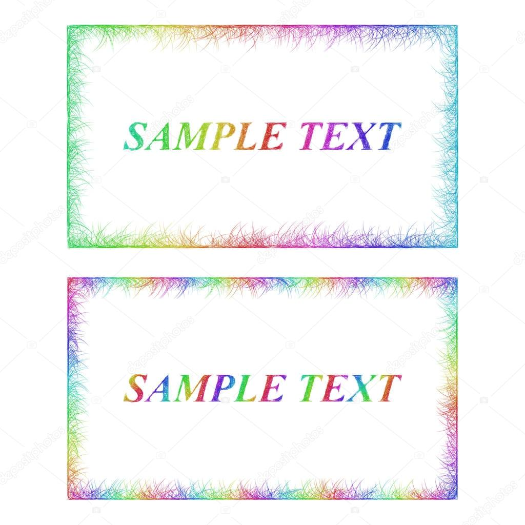 Business card border templates in rainbow colors stock vector business card border templates in rainbow colors stock vector cheaphphosting Image collections