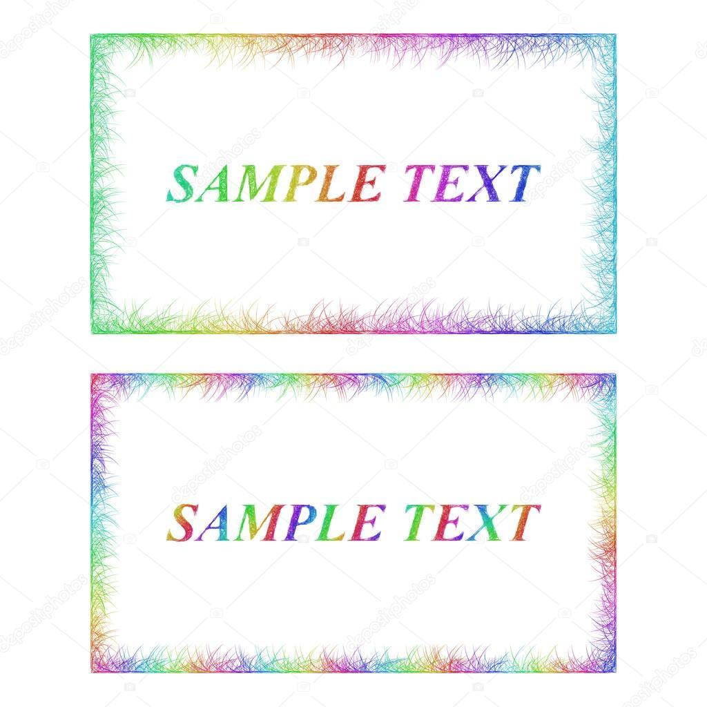 Business card border templates in rainbow colors stock vector business card border templates in rainbow colors stock vector fbccfo Images