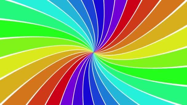 Forgó szivárvány spirál ray burst háttér